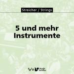 5 und mehr Instrumente